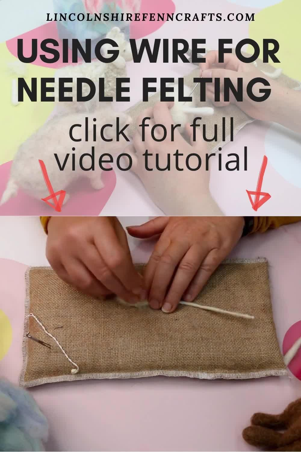 Using wire to your needle felting projects