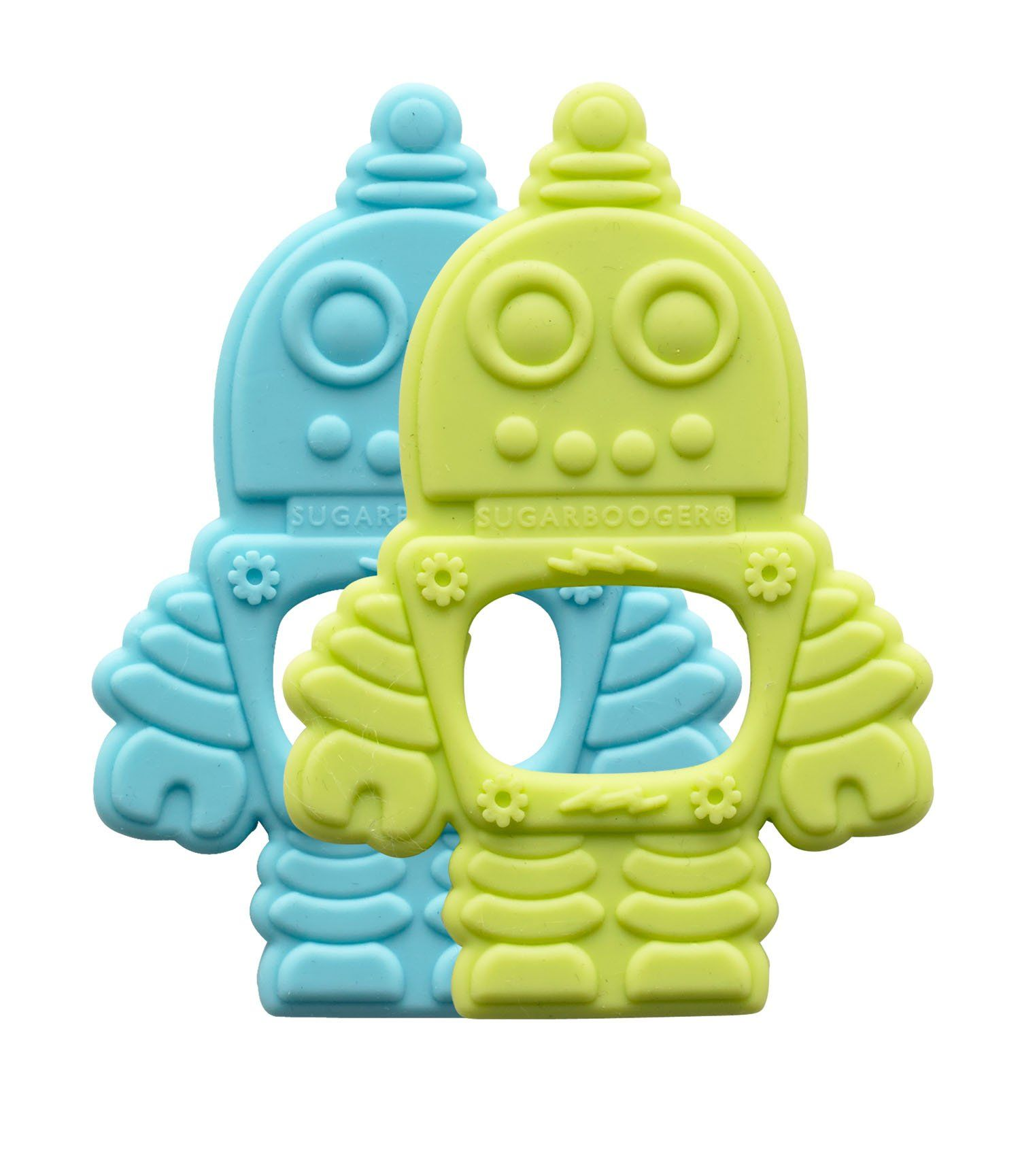 Sugarbooger Silicone Teether Retro Robot 2 Count Birthday Us Baby 3m
