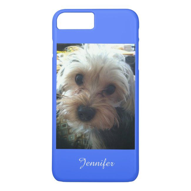 Blue or CHOOSE YOUR COLOR Cute Yorkie iPhone 8 Plus7 Plus Case