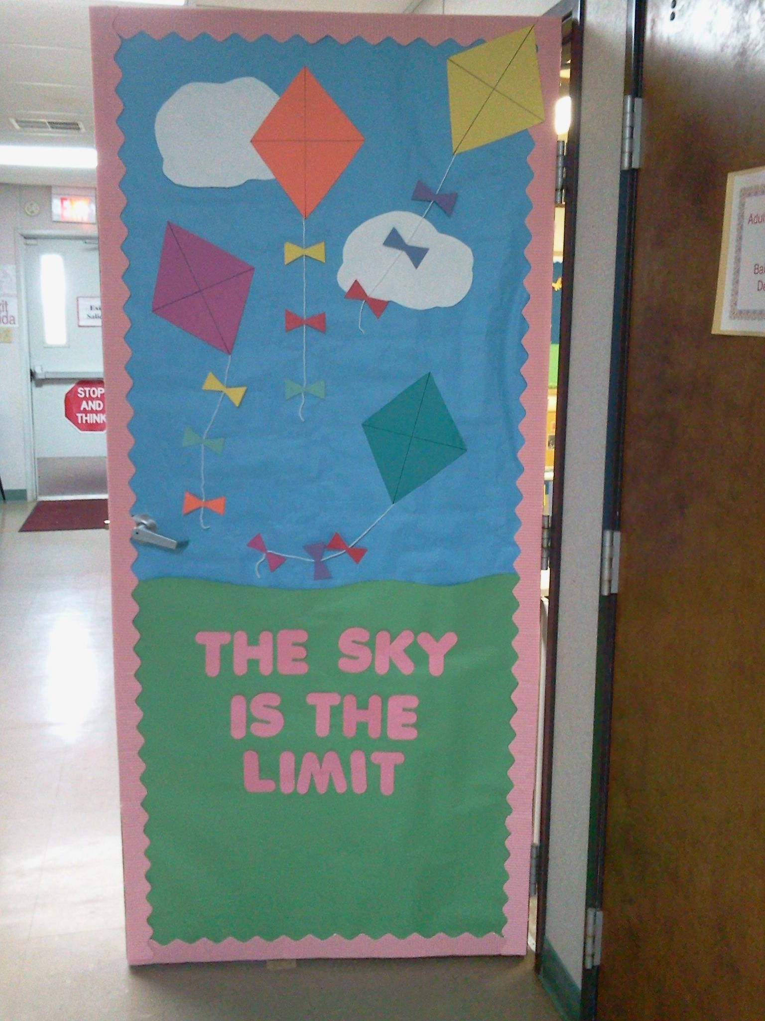 Classroom Decoration Ideas Quotes : Spring door i made for my classroom ideas to use