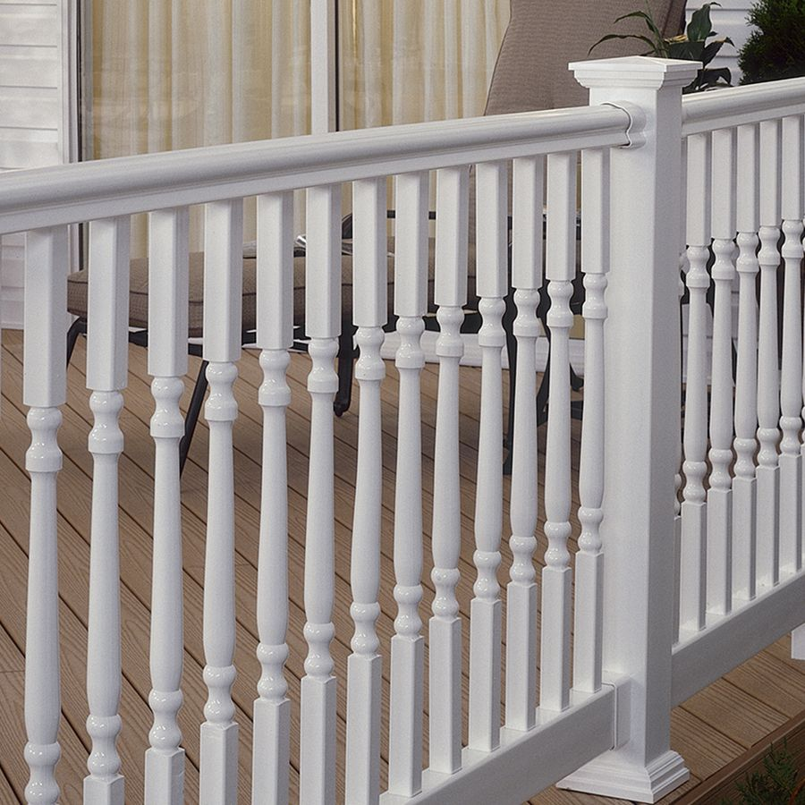 Fiberon homeselect composite deck baluster actual x x 2 8 ft bal turned 34 - Vinyl deck railing lowes ...