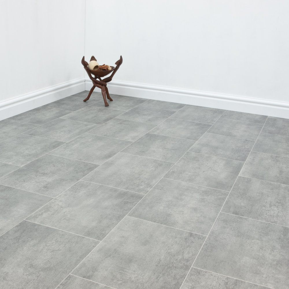 Grey tile effect vinyl floor uk discountflooringdepot grey tile effect vinyl floor uk discountflooringdepot dailygadgetfo Image collections
