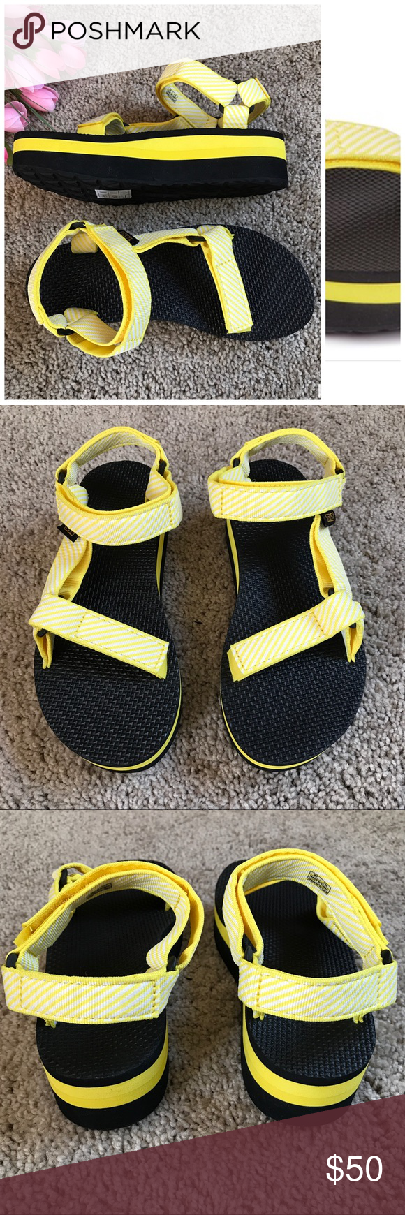 b8be3ffb202 •Teva• Candy Stripe Yellow