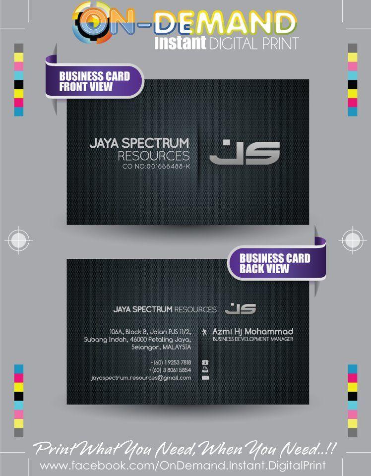 Client Jaya Spectrum Resources Material Ivorycard Description Layout Design Typ Business Card Layout Design Business Cards Layout Printing Business Cards