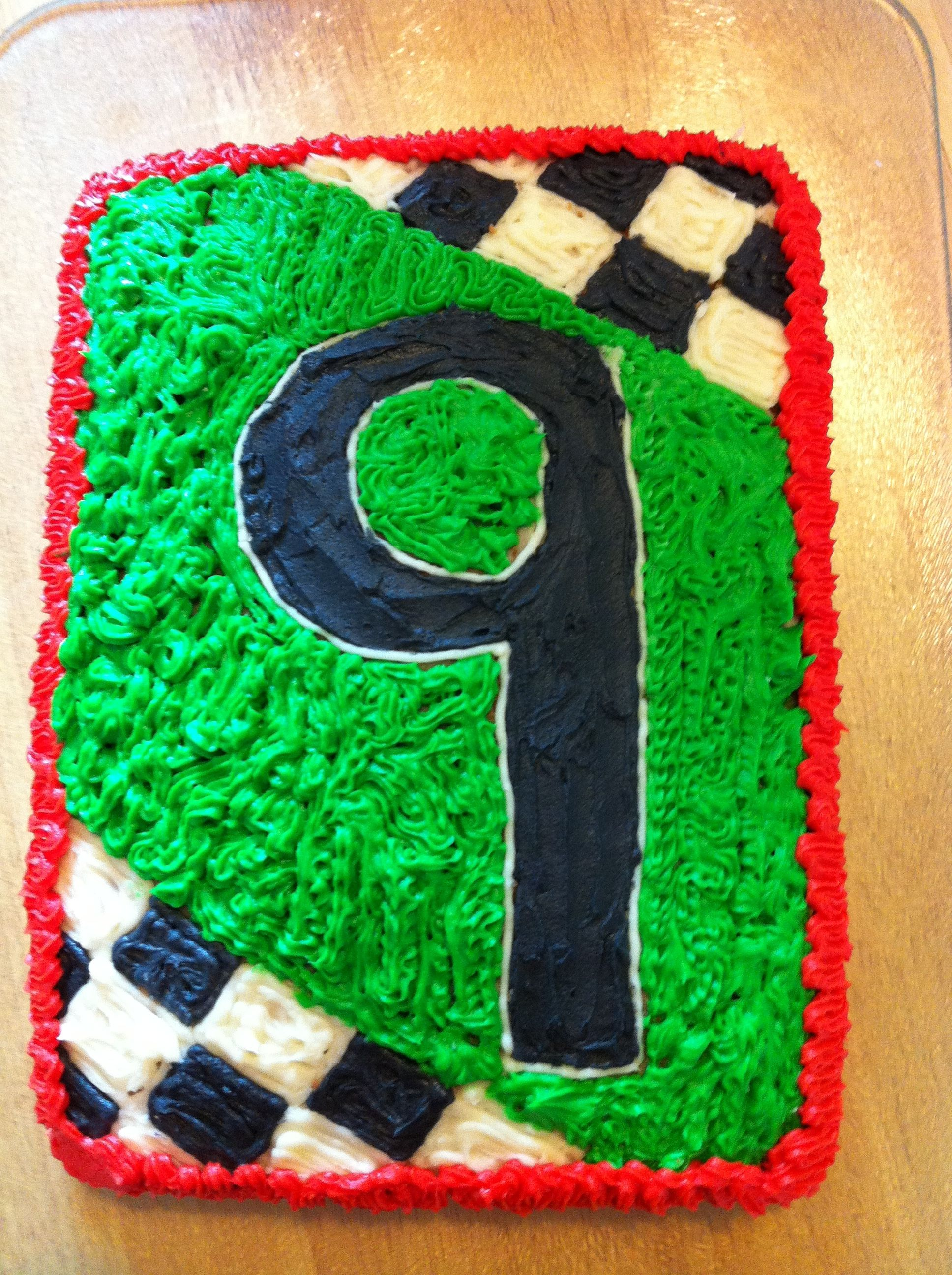 9 Year Old Boys Birthday Cake