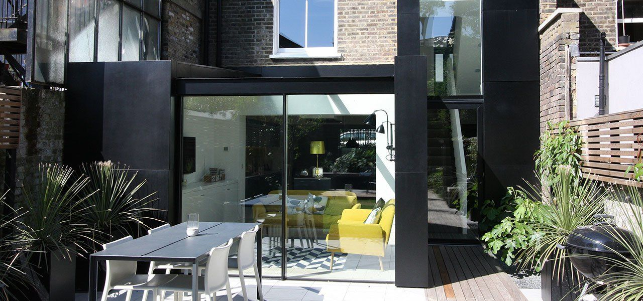 Dalston House: Sliding Glass Doors and Aluminium Casement Windows for a contemporary extension in London