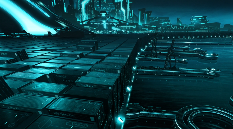 City Wallpaper Computer For Tron Uprising Future Dystopian