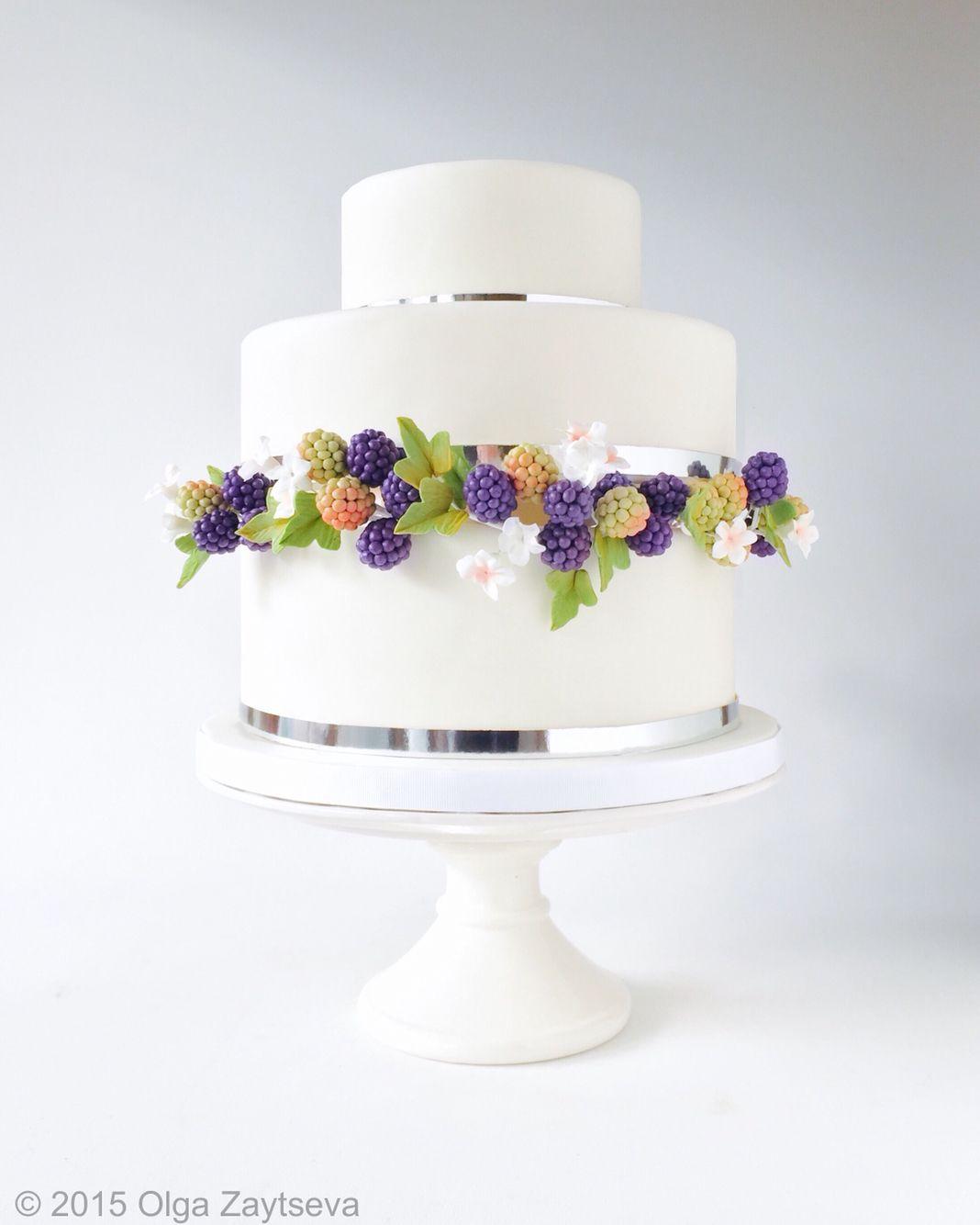 Modern wedding cake with sugar berries by Olga Zaytseva | White ...