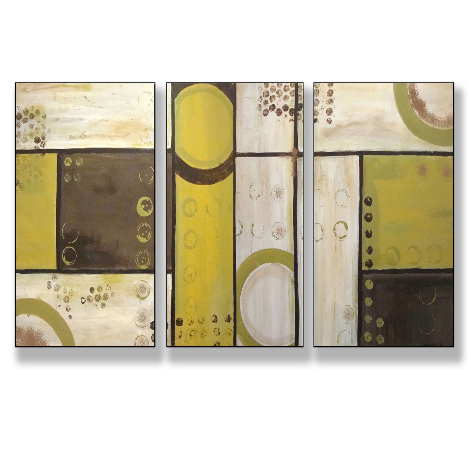 contemporary triptych paintings | Home > Industrial Circles Modern ...
