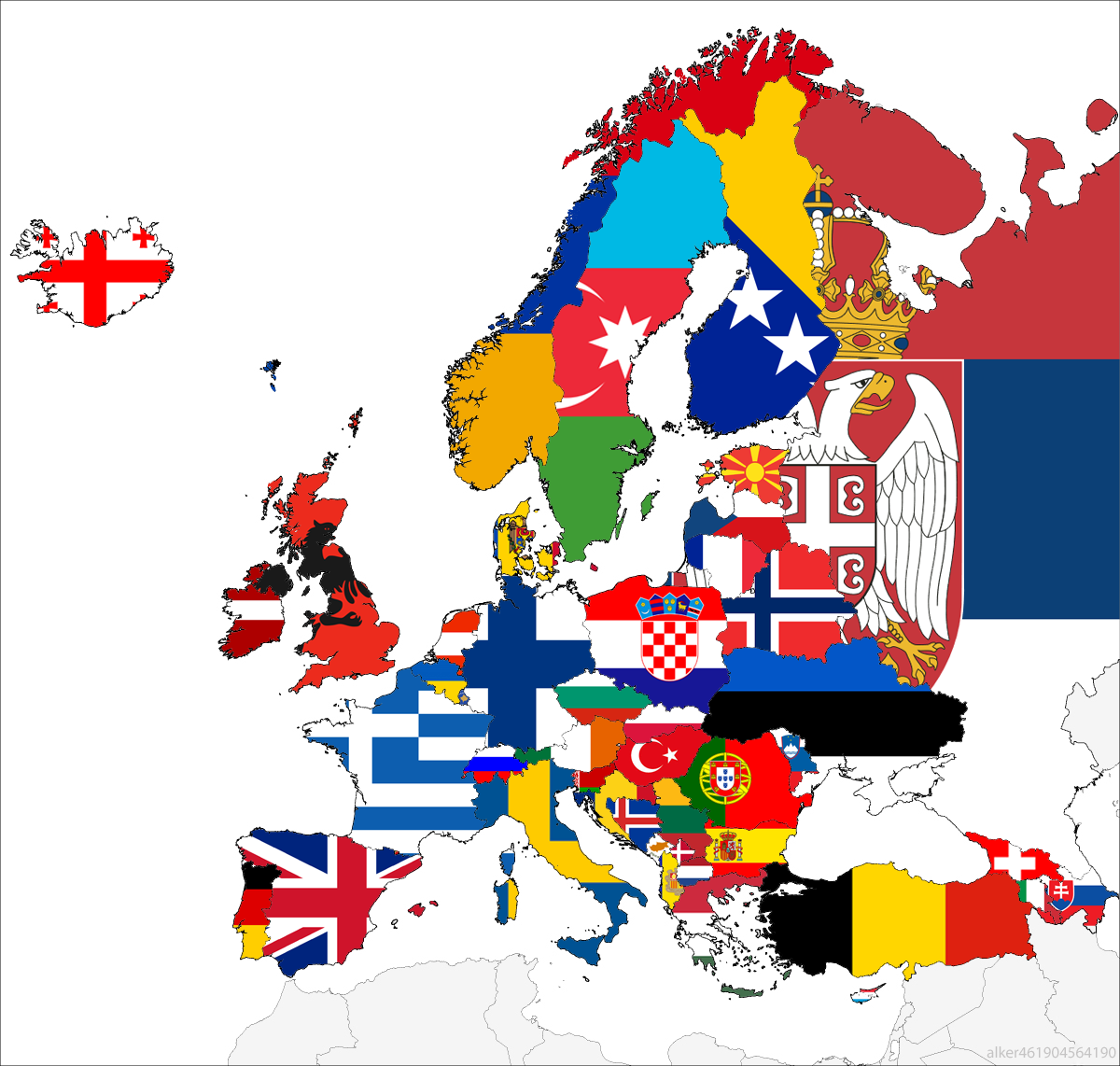 Countries of europe mostly with all the flags swapped around nice land of maps countries of europe mostly with all the flags gumiabroncs Images