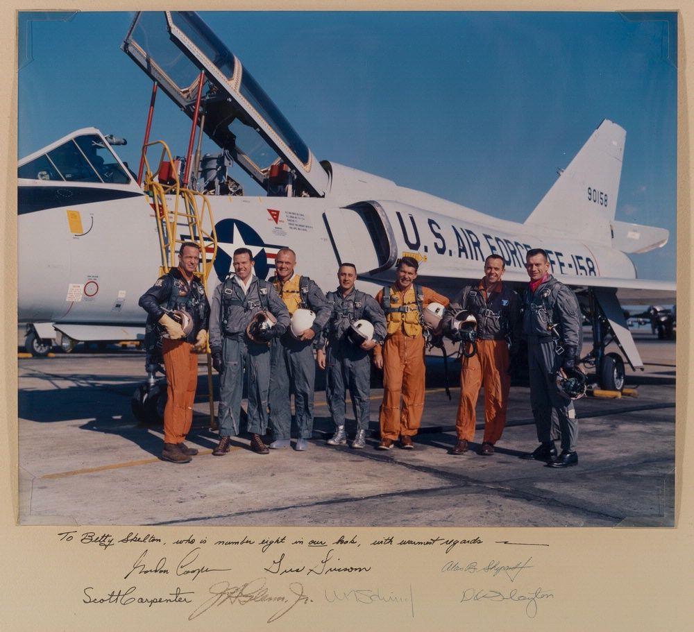 "The ""Mercury Seven"" This photo, taken January 20, 1961"