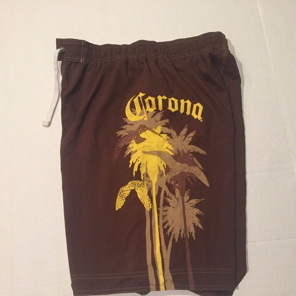 2cee157c4ed3c Corona Beer Board Shorts Mens Swim trunks Size 36 extra long EUC brown big  logo #fashion #clothing #shoes #accessories #mensclothing #swimwear (ebay  link)