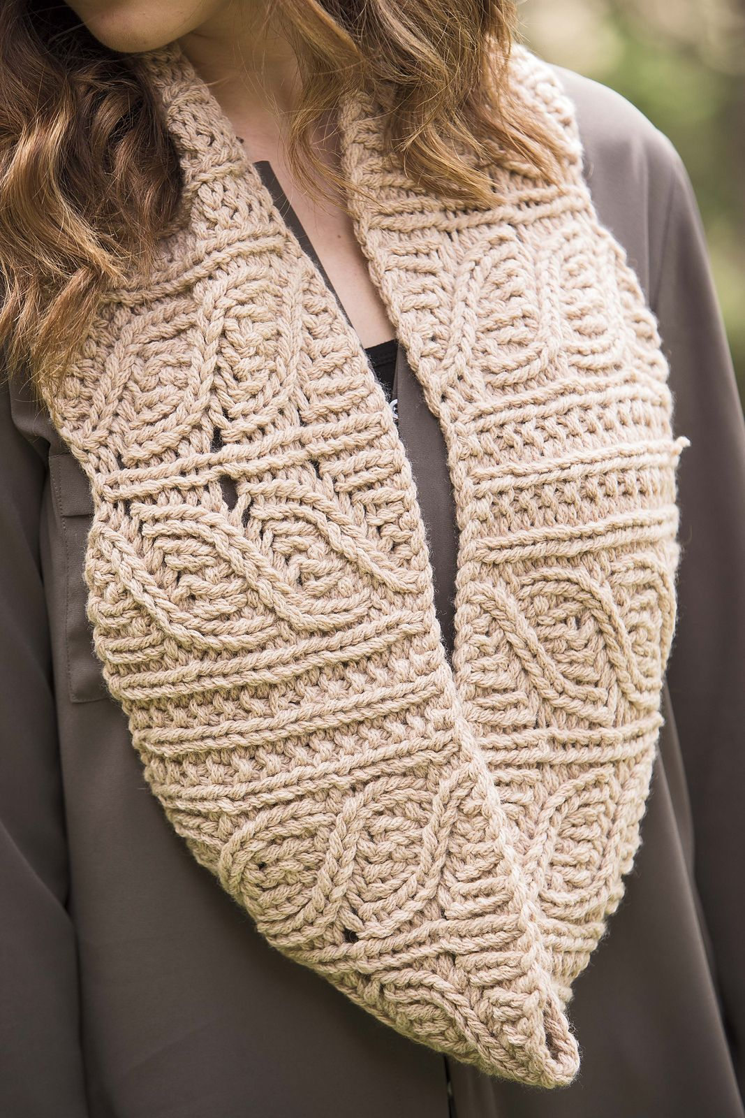 Knitting Pattern For Bear Lake Cowl Reversible Infinity Scarf With