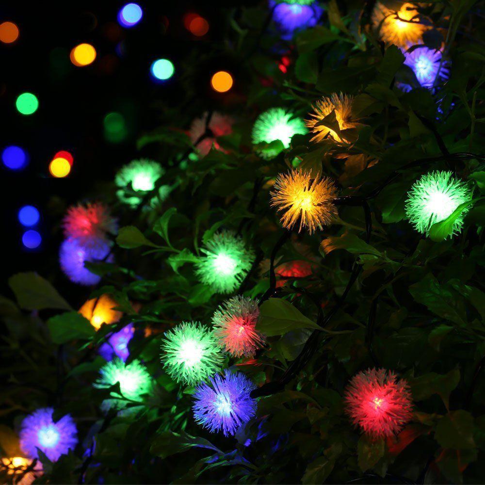 50 LED Christmas Wedding Solar Powered Garden Outdoor Colour String Fairy Lights