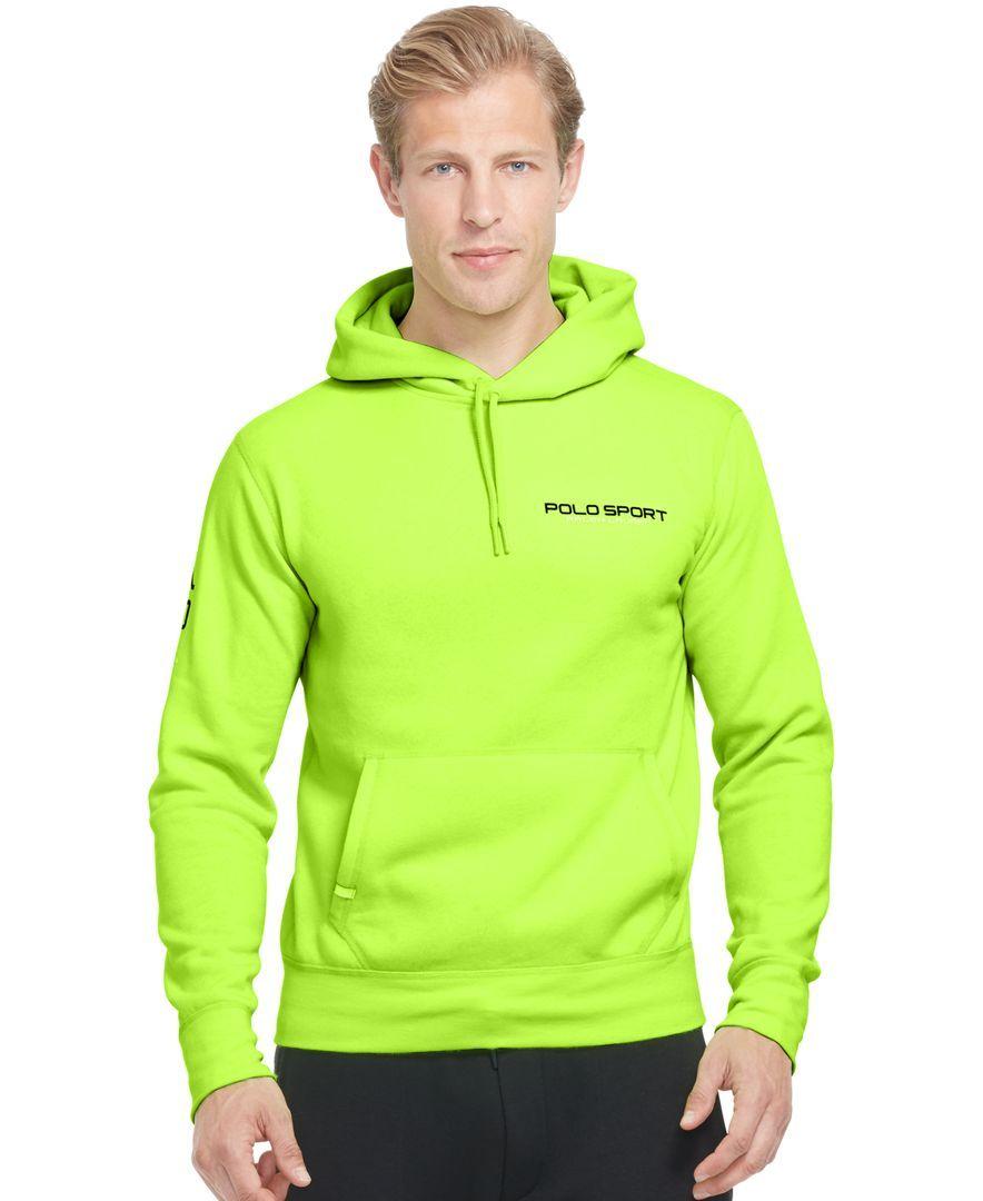 Polo Ralph Lauren Neon Fleece Pullover Hoodie