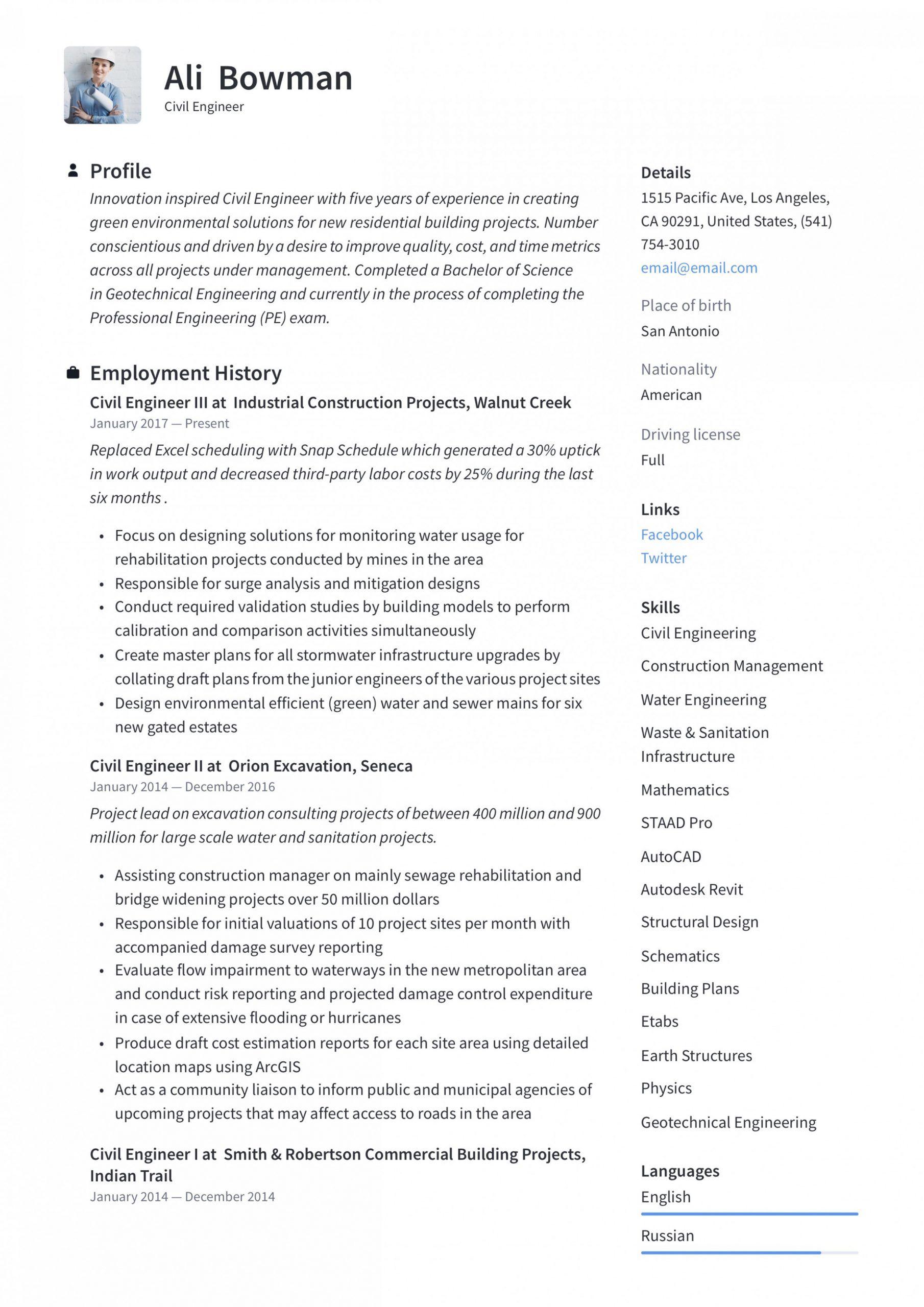 13 civil web site engineer resume pdf 13 civil site