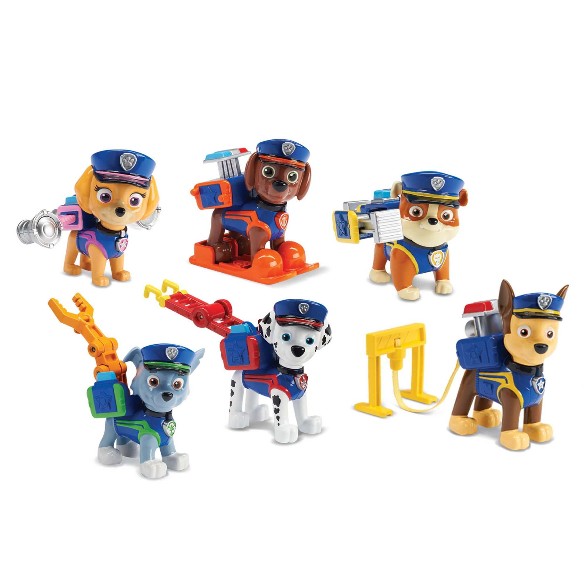 Paw Patrol Police Pups Action Pack Gift Set 6pc Paw Patrol Toys Paw Patrol Paw Patrol Figures