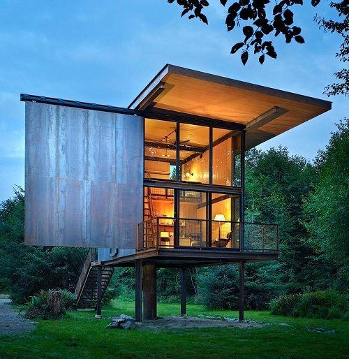 Estructuras Metalicas Vidrio Buscar Con Google Cabanas