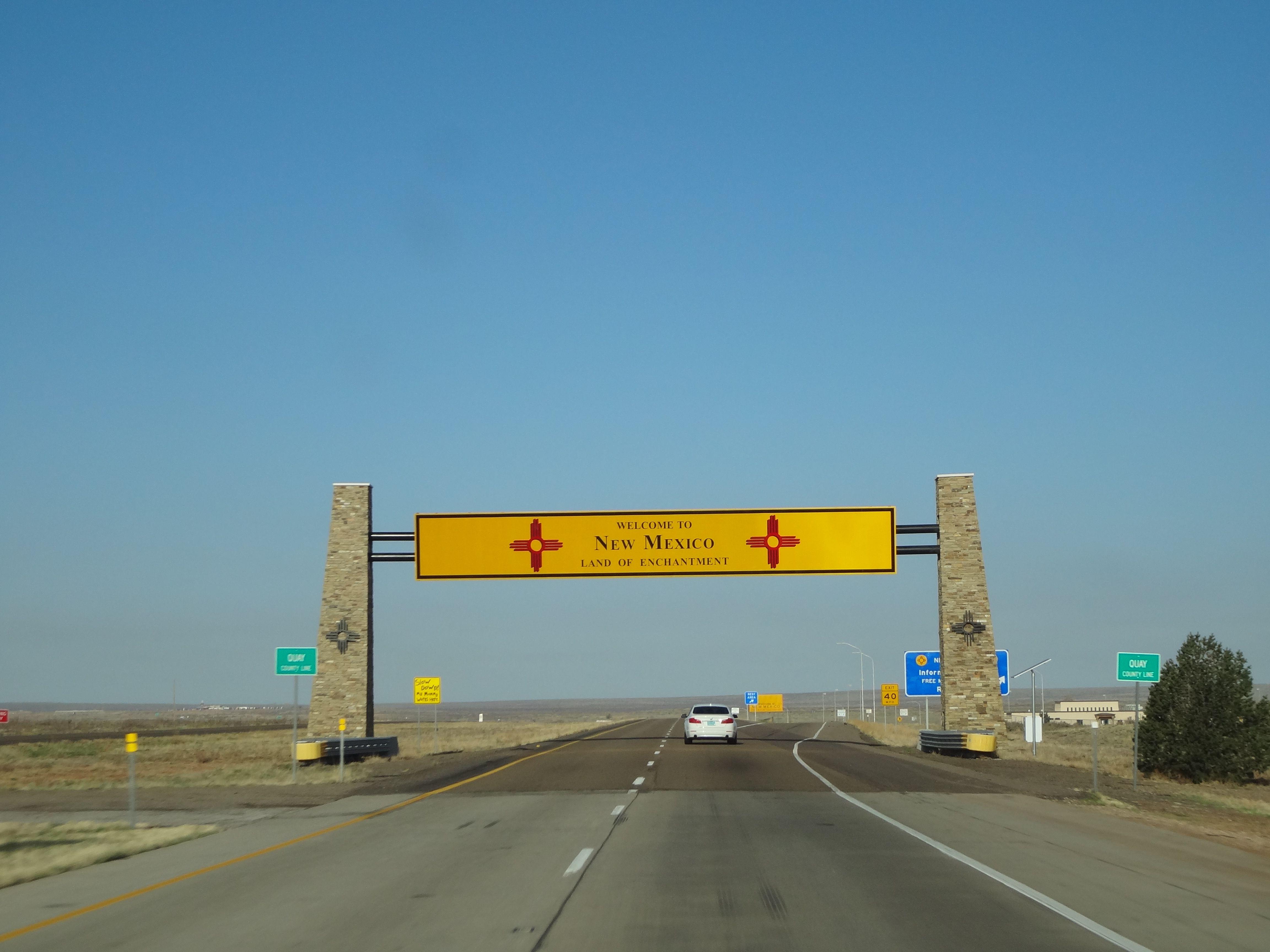 New Mexico Border I-40 | AMERICA in 2019 | Arizona travel, Road trip on