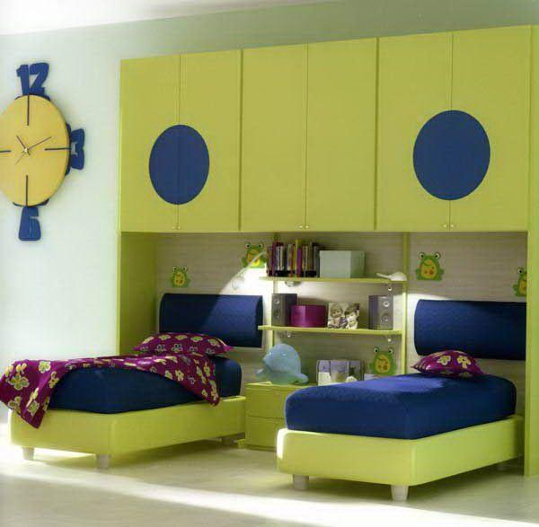 Cute Simple Children Bedroom 600x587