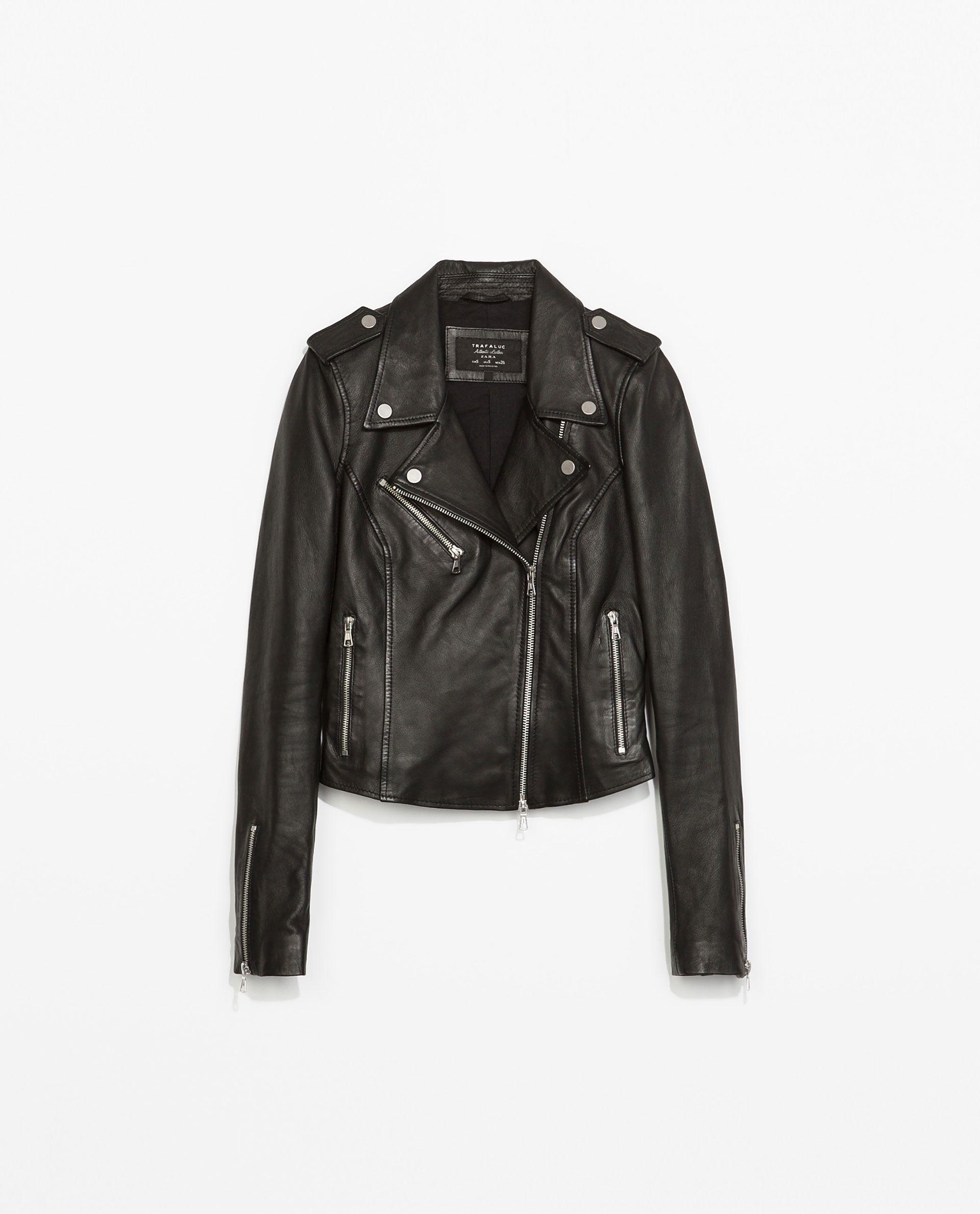 blouson style motard en cuir vestes trf zara france dress me up pinterest veste. Black Bedroom Furniture Sets. Home Design Ideas
