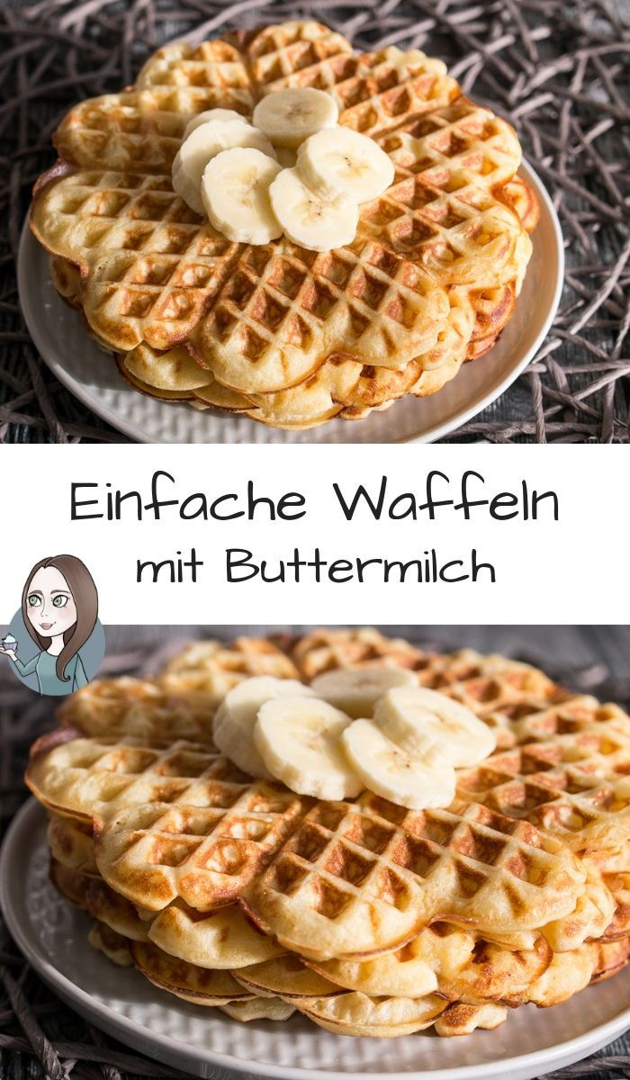 Einfache Buttermilchwaffeln Rezept - MakeItSweet.de