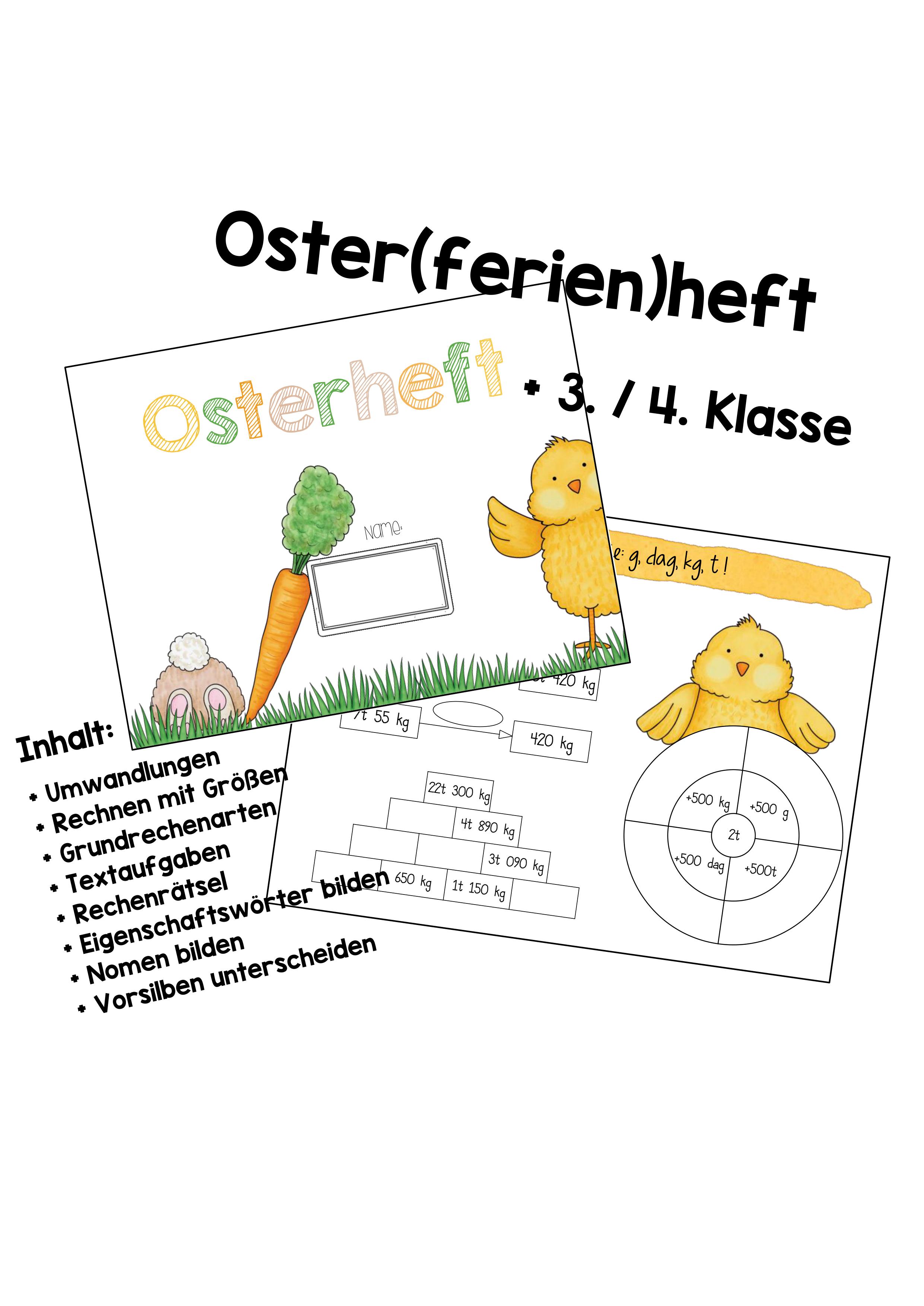 Osterheft / Osterlernheft 20. / 20. Klasse Deutsch & Mathematik ...