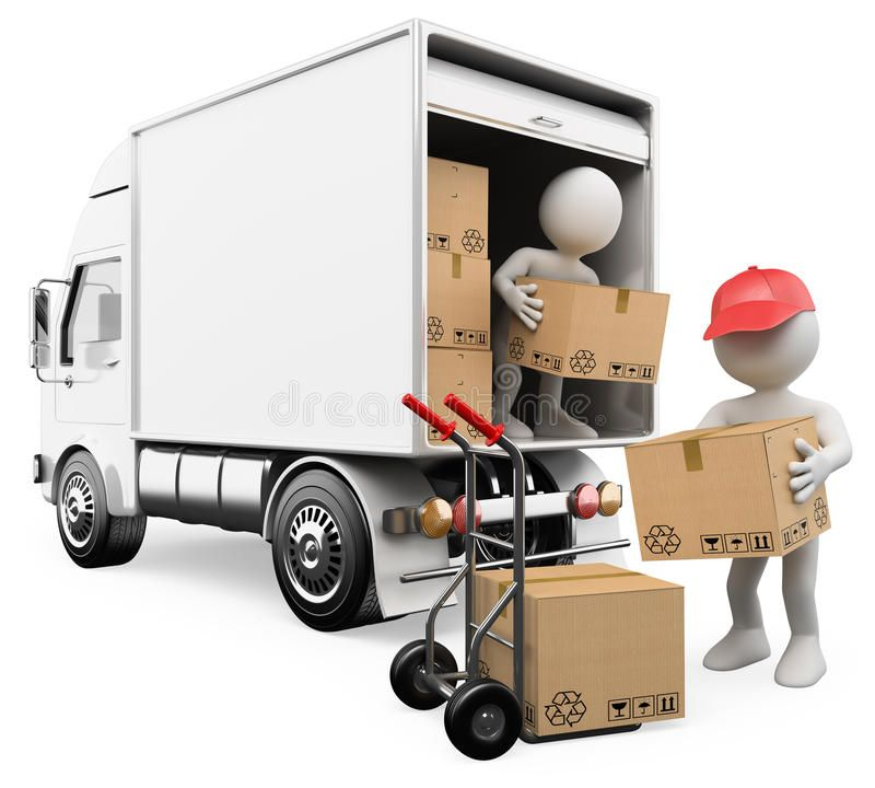 Movers to unload truck