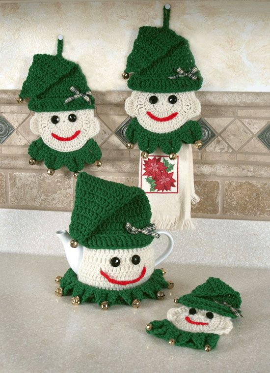 elf teapot cozy and accessories | Luv crochet | Pinterest ...