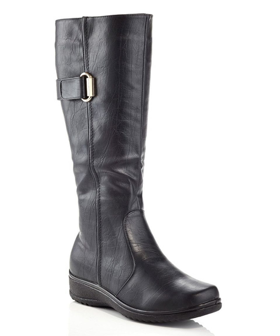Another great find on #zulily! Rasolli Black Hook & Loop Boot by Rasolli #zulilyfinds