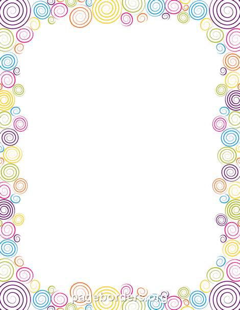 Printable Spiral Border Use The Border In Microsoft Word Or Other