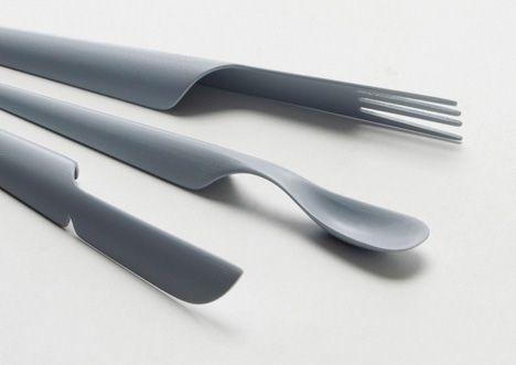 Plastic tableware #cutlery #minimal #design @codeplusform