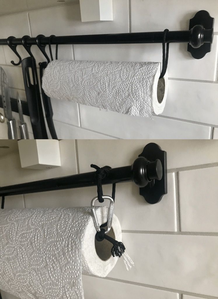 kitchen paper towel holder hats for staff ideas pinterest ikea fintorp hack