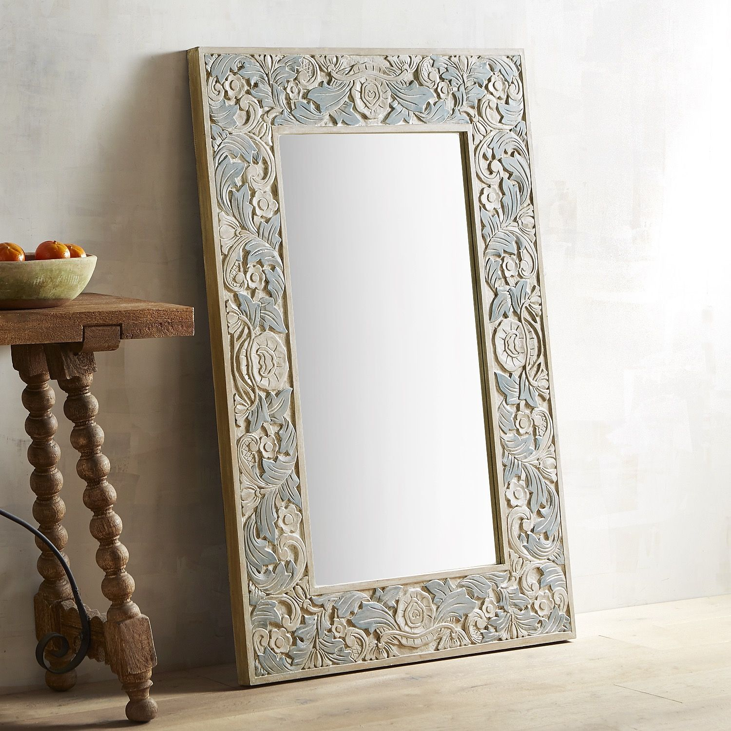 32 X 48 Mirror Part - 50: Bella Carved Wood Frame 32x48 Mirror