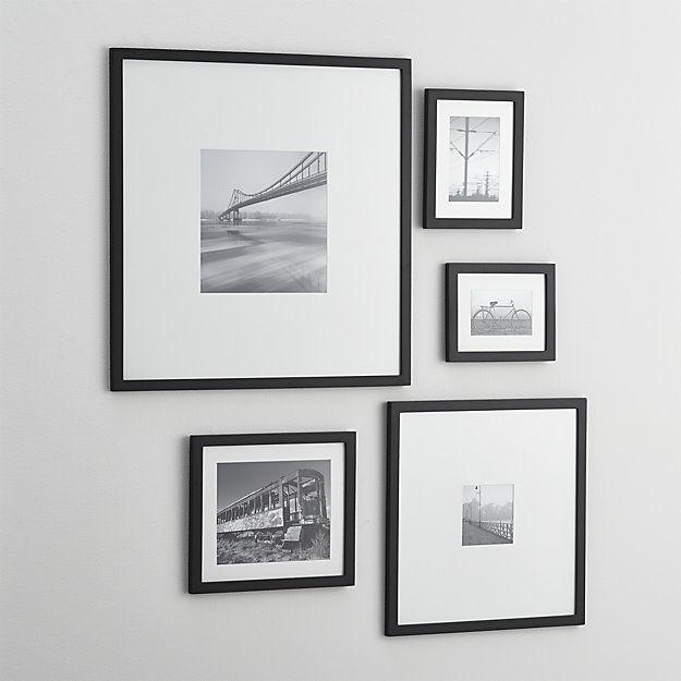 Free Shipping Shop 5 Piece Matte Black Picture Frame Set Classic