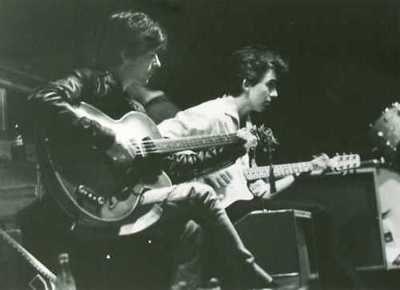 George Harrison and Stuart sutcliffe