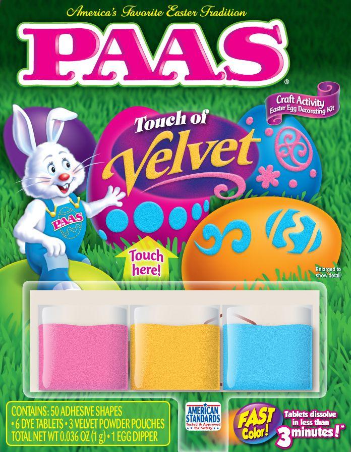 Paas Touch Of Velvet Egg Decorating Kit Easter Paas Egg