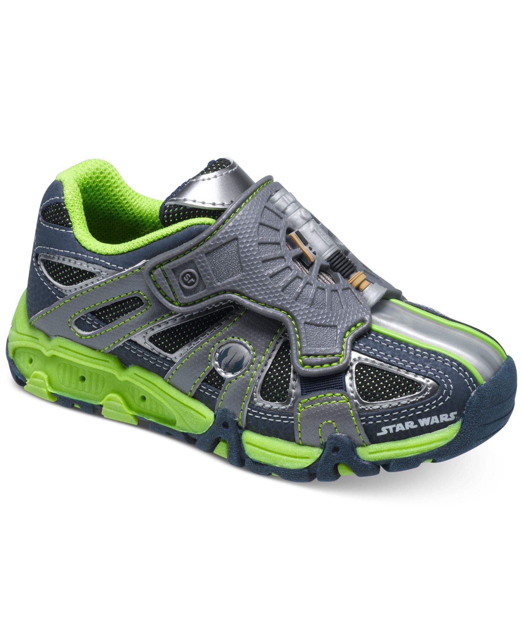 bcb3e4f3afa215 Stride Rite Little Boys  or Toddler Boys  Star Wars Light Sound Lightsaber  Shoes