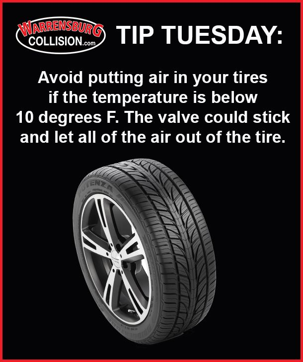 If It S Too Cold Don T Fill Your Tires Tips Let It Be Tired