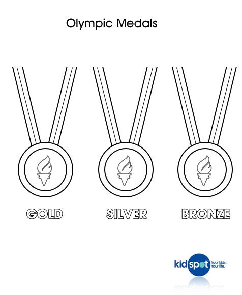 Olympic Medal Colouring Page Olympic Medals Olympic Colors