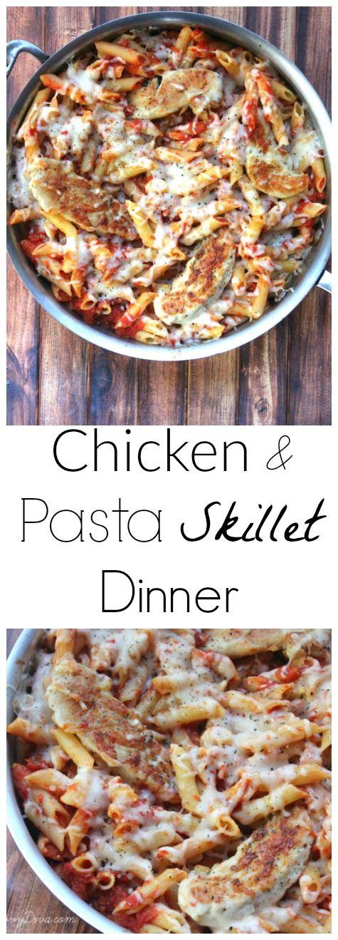 Chicken and Pasta Skillet Dinner Recipe  - perfect weeknight dinner (Chicken Meals Pasta)