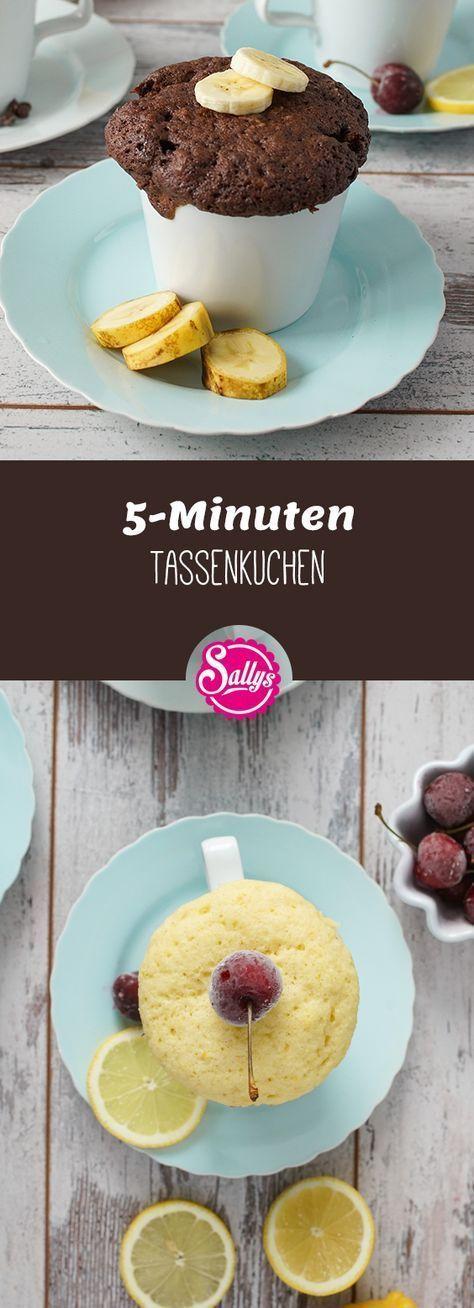 Leckere 5-Minuten Tassenkuchen! Für das schnelle Verlangen