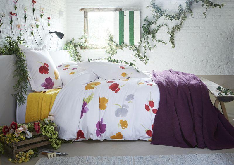 taie d 39 oreiller chamade satin de coton 50x75 satin housses de couette et coton. Black Bedroom Furniture Sets. Home Design Ideas
