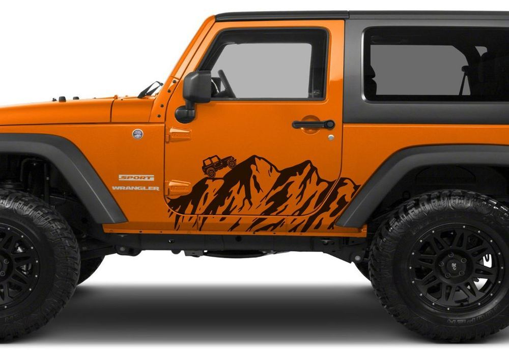 Pair Of 2013 2014 Wrangler Decal Set Jeep Stickers Jeep Stickers