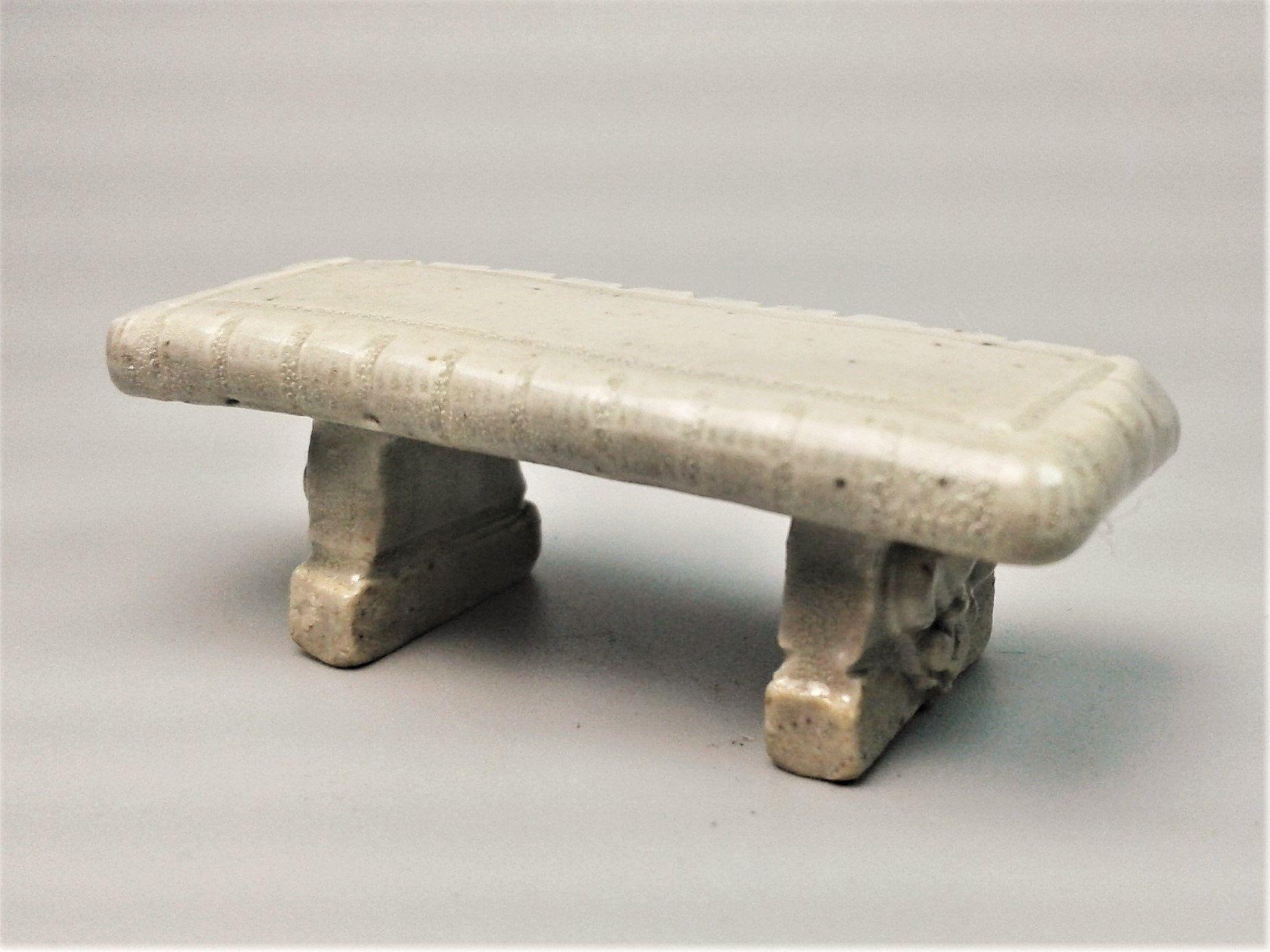 Superb Fairy Furniture Miniature Ceramic Fairy Garden Bench Spiritservingveterans Wood Chair Design Ideas Spiritservingveteransorg