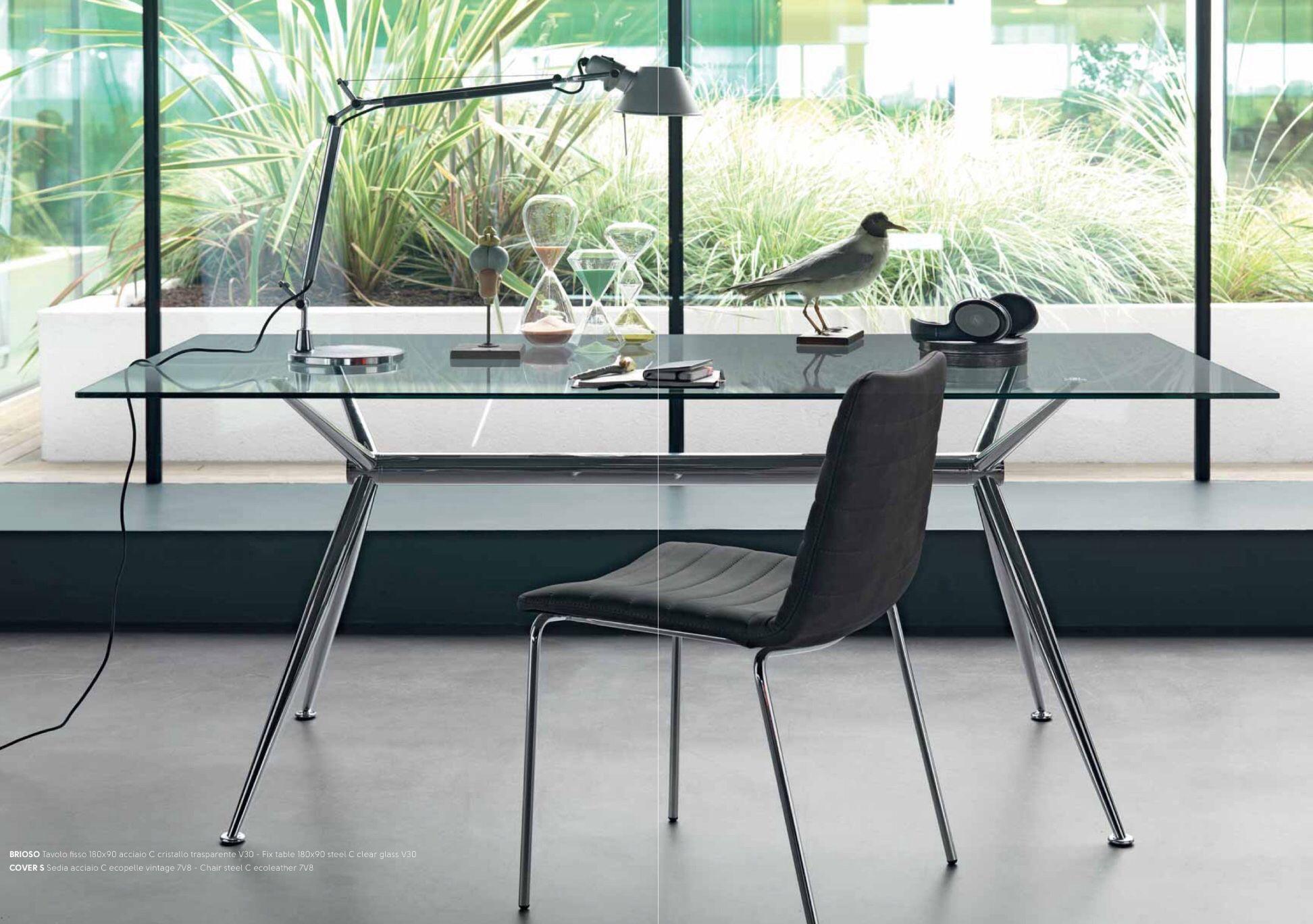 Tavolo Estetista ~ Brioso tavolo con basamento in acciaio estetica cromo e top