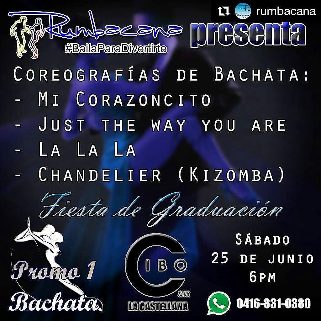 Hoy es la Fiesta de Graduación de la Promo1 de #Bachata