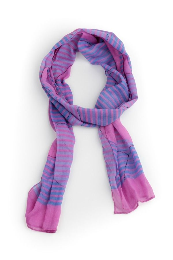 Stitched Print Striped Scarf  Explore Pashmina and fashion scarf collection @ www.desipotli.etsy.com or @ https://www.facebook.com/Desipotli.Desipotlijeweles