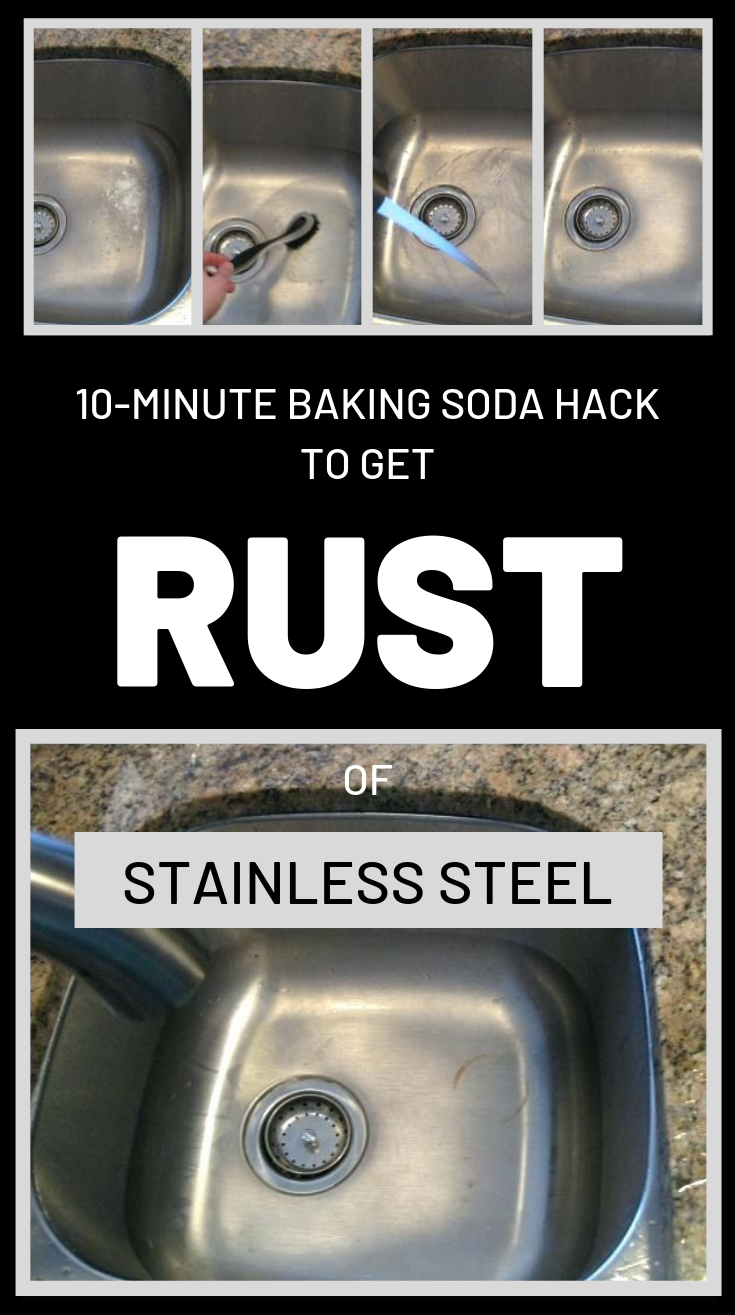 10 Minute Baking Soda Hack To Get Rust Of Stainless Steel Clean