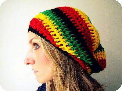 Reggae Slouch Beanie   *MY style*   Pinterest   Stricken und Häkeln